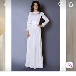 Платья - Платье макси длинное белое, 0