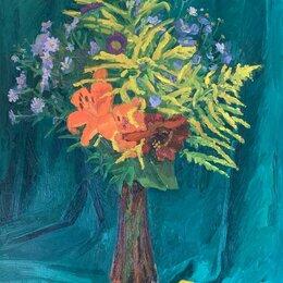 Картины, постеры, гобелены, панно - Лилии натюрморт импрессионизм Картина масло, 0