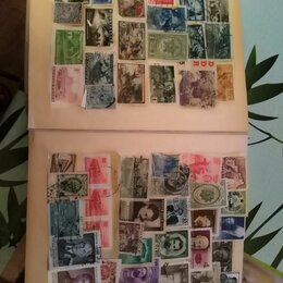 Марки - Коллекция марок, на фото не все, 0