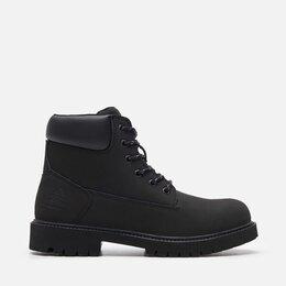 Ботинки - Из Натуральной Кожи Нубук Зимние Ботинки Мех Новые, 0