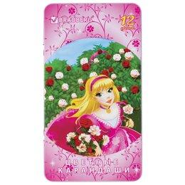 Письменные и чертежные принадлежности - Карандаши цветные Brauberg Rose Angel 12 цветов в , 0