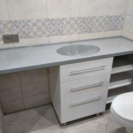 Полки, шкафчики, этажерки - Раковина с тумбой для ванной комнаты, 0