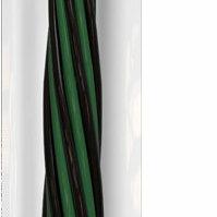 Товары для гадания и предсказания - Свеча восковая скрутка 19 зелёный с чёрным (ФИНАНСЫ (ОЧИЩЕНИЕ)), 0