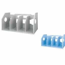 Упаковочные материалы - Лоток д/бумаг верт. 4-й  Y без передней стенки, серый/голубой, монолит, пластико, 0