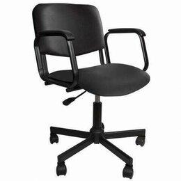 Кресла и стулья - Кресло КР08, с подлокотниками, кожзаменитель, черное, КР01.00.08-201-, 0