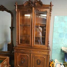 Шкафы, стенки, гарнитуры - Шкаф книжный антикварный Российская Империя стиль ренессанс, 0