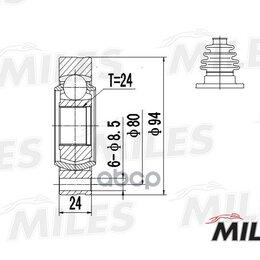 Отопление и кондиционирование  - Шрус Bmw 3 E36 1.6-2.0 90-03 Внутр. Miles арт. GA10012, 0