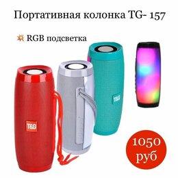 Портативная акустика - Портативная bluetooth колонка tg-157, красная, 0