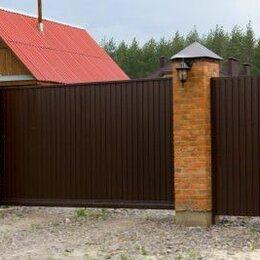 Заборы, ворота и элементы - откатные ворота сдвижные, 0