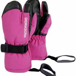 Перчатки и варежки - Варежки детские Didriksons FOSSA KIDS THREE-FINGER GLOVES, неоновый розовый, 5, 0