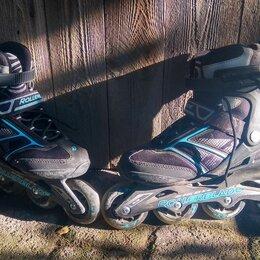 Роликовые коньки - Ролики rollerblade 2 пары, 0