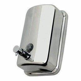 Мыльницы, стаканы и дозаторы - Дозатор для жидкого мыла 0,8 литра  (нержавеющая сталь) S-00402, 0