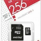 Карты памяти - Карта памяти MicroSDHC 256GB Smart Buy, Class 10 (с SD адаптером), 0