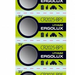 Батарейки - Батарейки Ergolux CR2025 BL5, 0