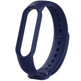 Ремешки для часов - Ремешок силиконовый для Mi Band 5 - темно - синий, 0