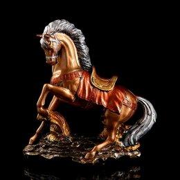 """Киндер-сюрприз - Premium Gips Сувенир """"Конь на дыбах"""" 36 см, цвет бронзовый, 0"""