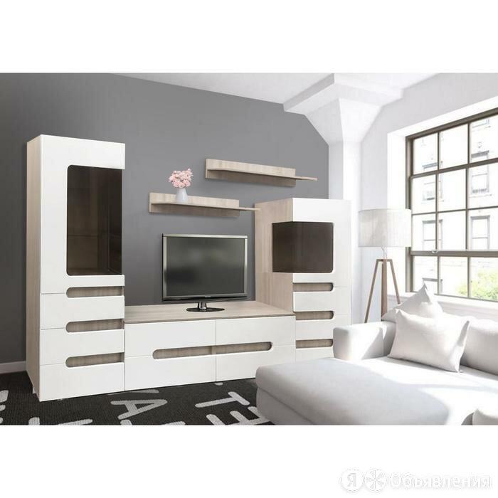 Гостиная Эврика, 2300х436х1900, Шимо светлый/Белый глянец МДФ по цене 28544₽ - Шкафы, стенки, гарнитуры, фото 0