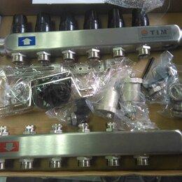 """Комплектующие для радиаторов и теплых полов - Коллектор 6 контуров TIM KBS 5006 1""""х3/4 М (6), 0"""