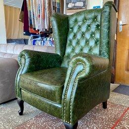 Кресла - Кресло каминное кожаное, 0