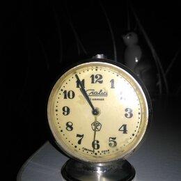 Часы настольные и каминные - Будильник слава 11 камней механический ссср винтаж, 0