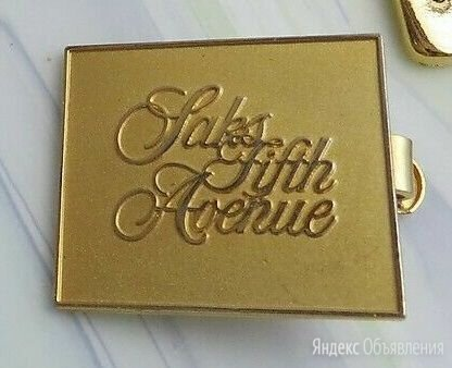 Зажим для галстука Saks 5 th Avenue 90х годов по цене 3500₽ - Запонки и зажимы, фото 0