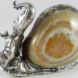 Статуэтки и фигурки - Статуэтка Господин Улит. серебро,камень, 0