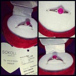 Кольца и перстни - Помолвочное кольцо в коробочке рубин серебро, 0