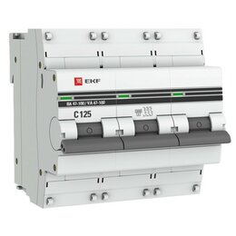 Защитная автоматика - EKF PROxima автоматический выключатель ВА47-100, 3P 80А (C) 10kA mcb47100-3-8..., 0