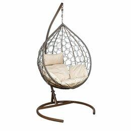Подвесные кресла - Подвесное кресло LESET ЭВА коричневое, 0