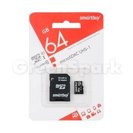 Карты памяти - Карта памяти MicroSD 64GB Smartbuy Class 10 SDXC UHS-I + адаптер SD, 0