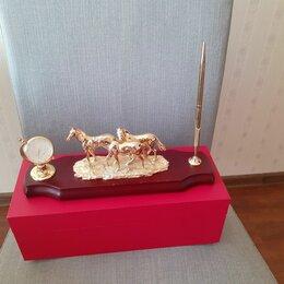 Подарочные наборы - Набор с часами для письменного стола руководителя, 0