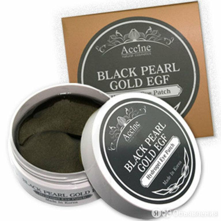 Патчи для глаз с черным жемчугом и золотом PETITFEE Black Pearl & Gold Eye P... по цене 1180₽ - Для глаз, фото 0