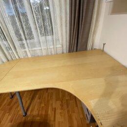 Компьютерные и письменные столы - Стол письменный galant (ikea), 0