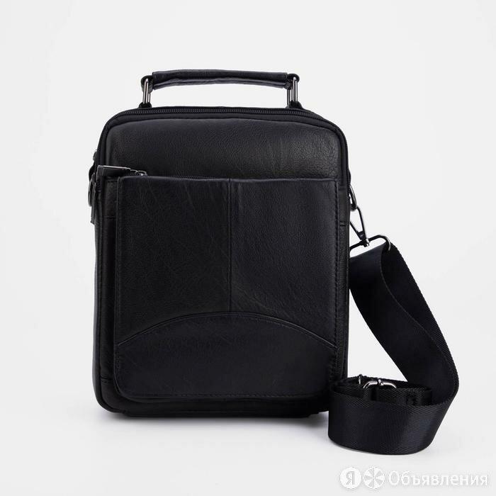 Сумка мужская, 2 отдела на молниях, 3 наружных кармана, длинный ремень, цвет ... по цене 3766₽ - Сумки, фото 0
