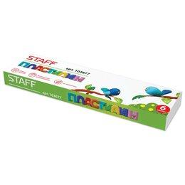 Лепка - Пластилин классический Staff 6 цветов 60 г 103677, 0