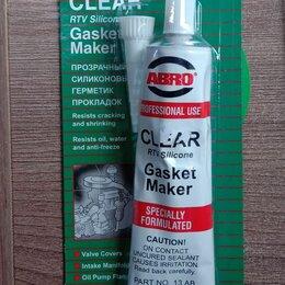Масла, технические жидкости и химия - Герметик-прокладка abro ( 85 гр) прозрачный , 0