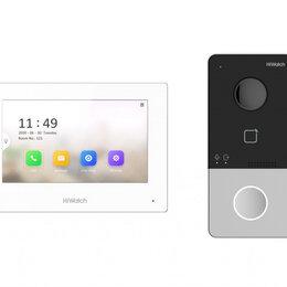 Домофоны - Комплект видеодомофона Hiwatch DS-D100IKWF беспроводной, 0