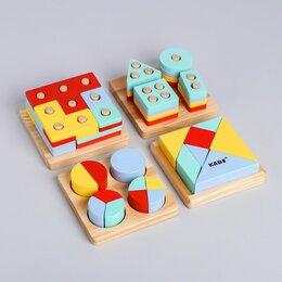Головоломки - Развивающий набор головоломок «Монтессори», 5.5 × 29.5 × 25.5 см, 0
