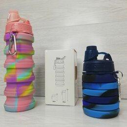 Шейкеры и бутылки - Складная силиконовая бутылка 250 мл - 500 мл, 0