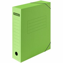 Расходные материалы - Короб архивный  75мм на резинке  OfficeSpace  зеленый  до 700л,, 0