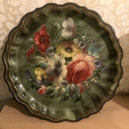 Декоративная посуда - Декоративная тарелка-поднос в интерьер , 0