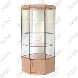 Мебель для учреждений - Витрина демонстрационная В-104УВД угловая, 0