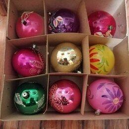 Ёлочные украшения - Набор елочных шаров, большие, ссср, 0