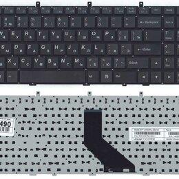 Клавиатуры - Клавиатура для ноутбука DNS 0170720 Clevo W350 w370 черная (плоский ENTER) , 0
