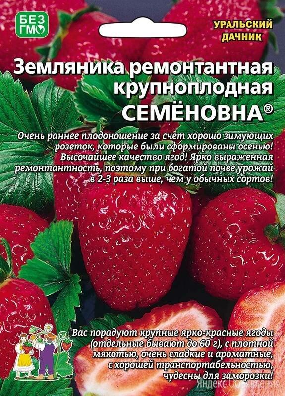 Земляника Семёновна ремонтантная (УД) по цене 68₽ - Древесно-плитные материалы, фото 0