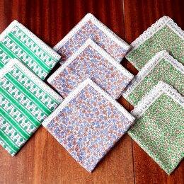 Бумажные салфетки, носовые платки - Носовой платок из ситца. С кружевами., 0