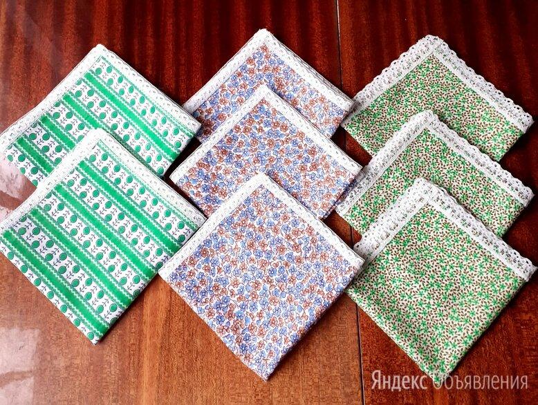 Носовой платок из ситца. С кружевами. по цене 50₽ - Бумажные салфетки, носовые платки, фото 0