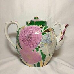 Заварочные чайники - Большой чайник Дулево астры.4.5 литра., 0