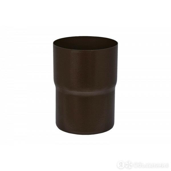 Соединитель трубы Аквасистем Pural matt RR 32 (Темно-Коричневый) 90/125 по цене 553₽ - Кровля и водосток, фото 0