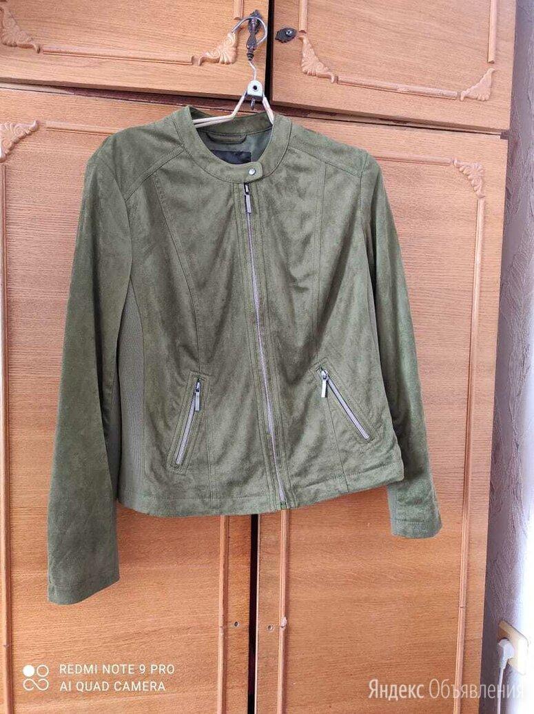 Бомбер из искусственной кожи h & m хаки по цене 700₽ - Куртки, фото 0